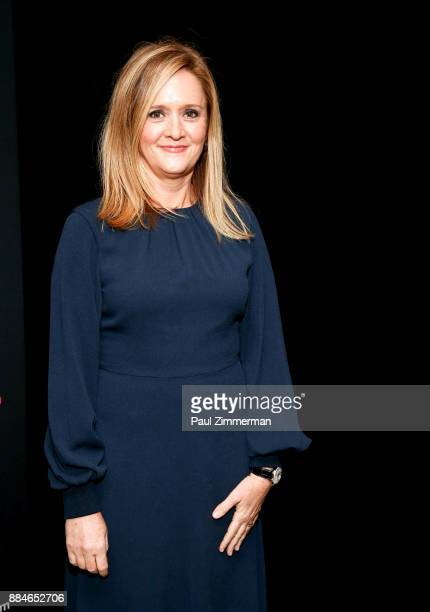 Samantha Bee attends Sad A Happy Evening with Stephen Colbert Samantha Bee for Montclair Film at NJPAC on December 2 2017 in Newark New Jersey