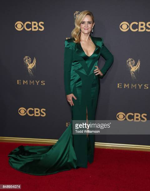 Samantha Bee attends the 69th Annual Primetime Emmy Awards at Microsoft Theater on September 17 2017 in Los Angeles California