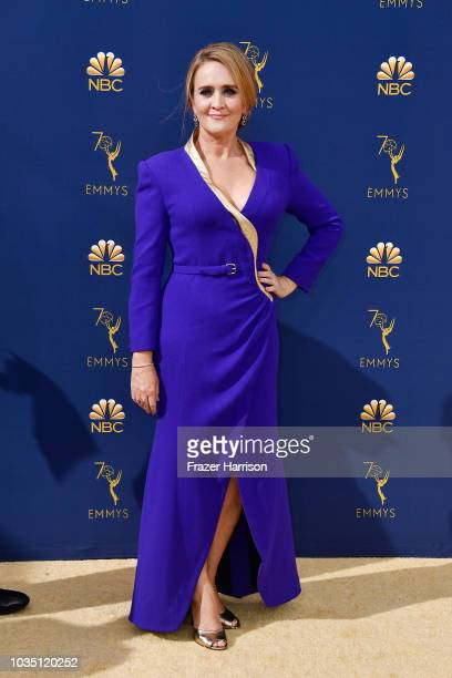 Samantha Bee attends the 70th Emmy Awards at Microsoft Theater on September 17 2018 in Los Angeles California