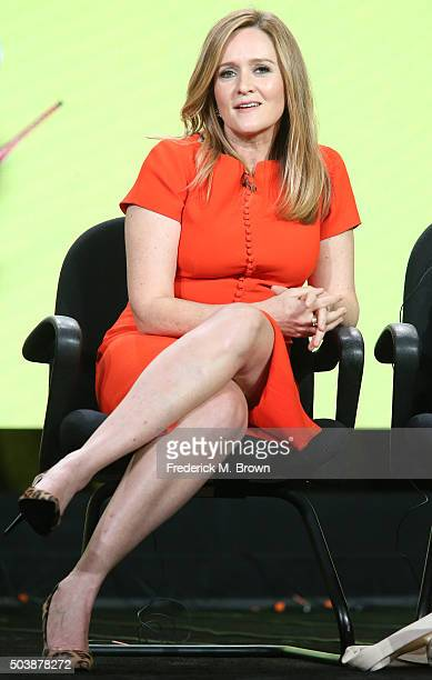 Samantha Bee speaks onstage during TBS's Full Frontal with Samantha Bee panel as part of the Turner Networks portion of This is Cable Television...