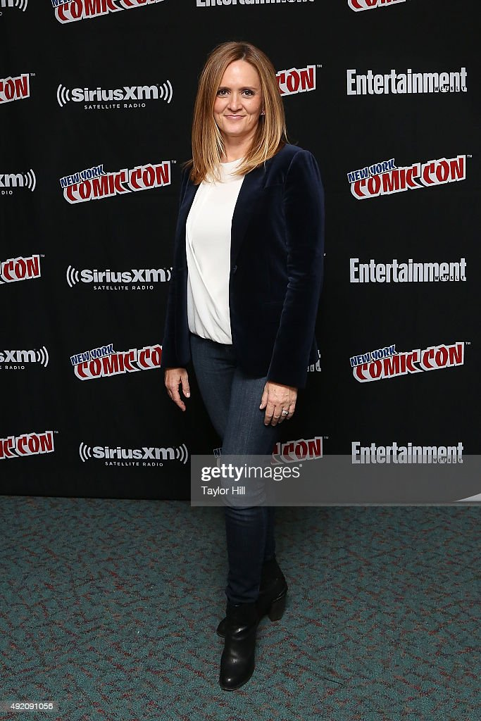 Samantha Bee visits the SiriusXM Studios during New York Comic-Con at The Jacob K. Javits Convention Center on October 9, 2015 in New York City.