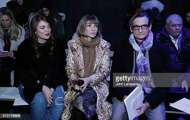 Samantha Berry Vogue editor Hamish BowlesVogue Editorin Chief Anna Wintour attends Altuzarra show during the Fall 2016 New York Fashion Week on...