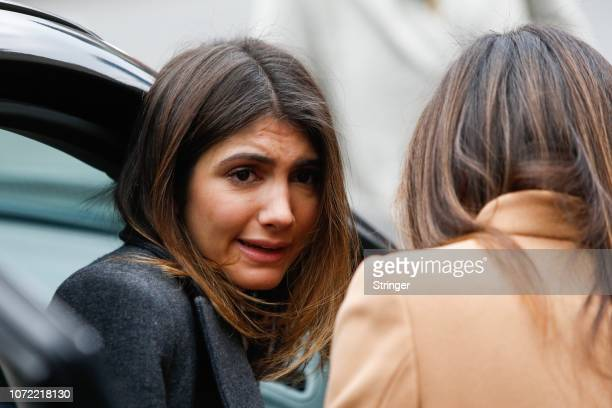 Samantha Blake Cohen leaves after the sentencing of her father Michael Cohen President Donald Trump's former personal attorney and fixer at federal...