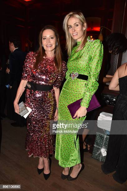 Samantha Boardman and Carola Jain attend Julie Macklowe's 40th birthday Spectacular at La Goulue on December 19 2017 in New York City