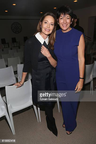 Samantha Boardman and Ghislaine Maxwell attend VIP Evening of Conversation for Women's Brain Health Initiative Moderated by Tina Brown at Spring...