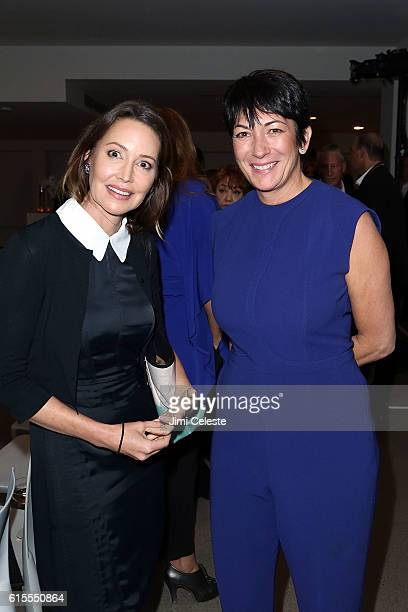 Samantha Boardman and Ghislaine Maxwell attends VIP Evening of Conversation for Women's Brain Health Initiative Moderated by Tina Brown at Spring...