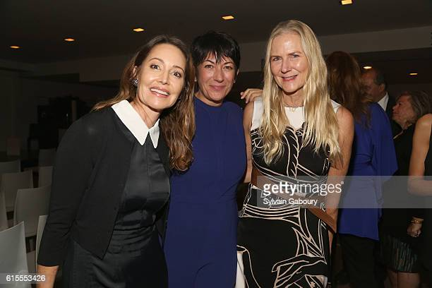 Samantha Boardman Ghislaine Maxwell and Gigi Mortimer attend VIP Evening of Conversation for Women's Brain Health Initiative Moderated by Tina Brown...