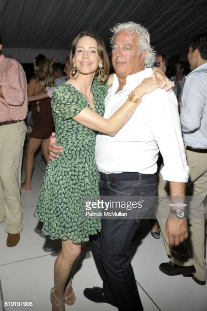 Samantha Boardman Rosen and Aby Rosen attend QVC Style Initiative Dinner hosted by CEO Mike George at the home of Dennis Basso and partner Michael...