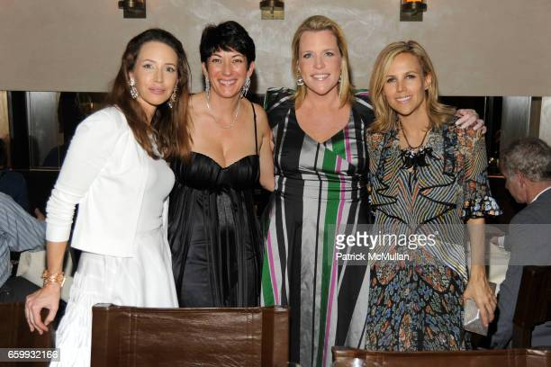 Samantha Boardman Rosen Ghislaine Maxwell Marjorie Gubelmann and Tory Burch attend ABY ROSEN PETER BRANT ALBERTO MUGRABI Dinner at W SOUTH BEACH at W...