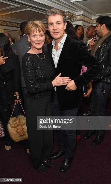 Samantha Bond and Alexander Hanson attend the English National Opera production of 'Porgy Bess' at London Coliseum on October 24 2018 in London...