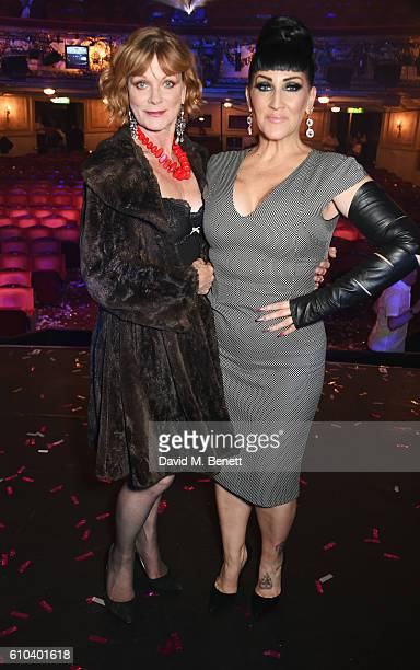 Samantha Bond and Michelle Visage attend 'West End Bares 2016 Excalibare' in support of the Make A Difference Trust at The Novello Theatre on...