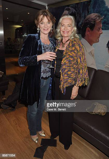 Samantha Bond and Shirley Eaton attend the Gala Screening of the James Bond film 'Dr No' to open the Albert 'Cubby Broccoli' season at the BFI South...