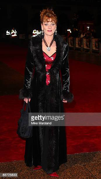Samantha Bond attends Cinema & Television Benevolent Fund Royal Film Performance 2008: A Bunch Of Amateurs at Odeon Leicester Square on November 17,...