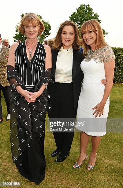 Samantha Bond Barbara Broccoli and Jane Seymour attend the Duke of Edinburgh Award 60th Anniversary Diamonds are Forever Gala at Stoke Park on June 9...