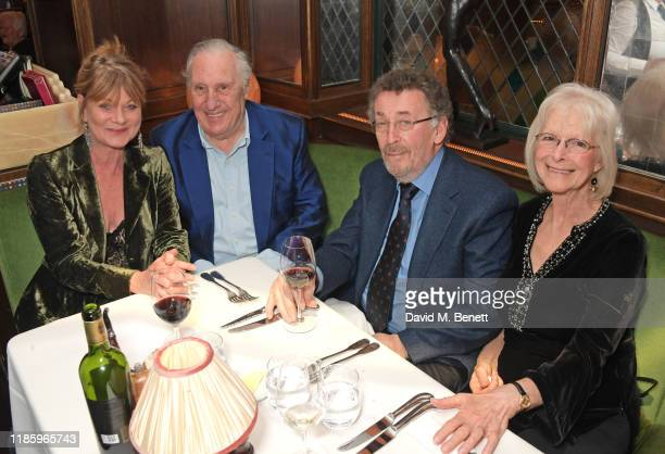 Samantha Bond Frederick Forsyth Robert Powell and Babs Powell attend One Night Only at The Ivy in aid of Acting For Others on December 1 2019 in...