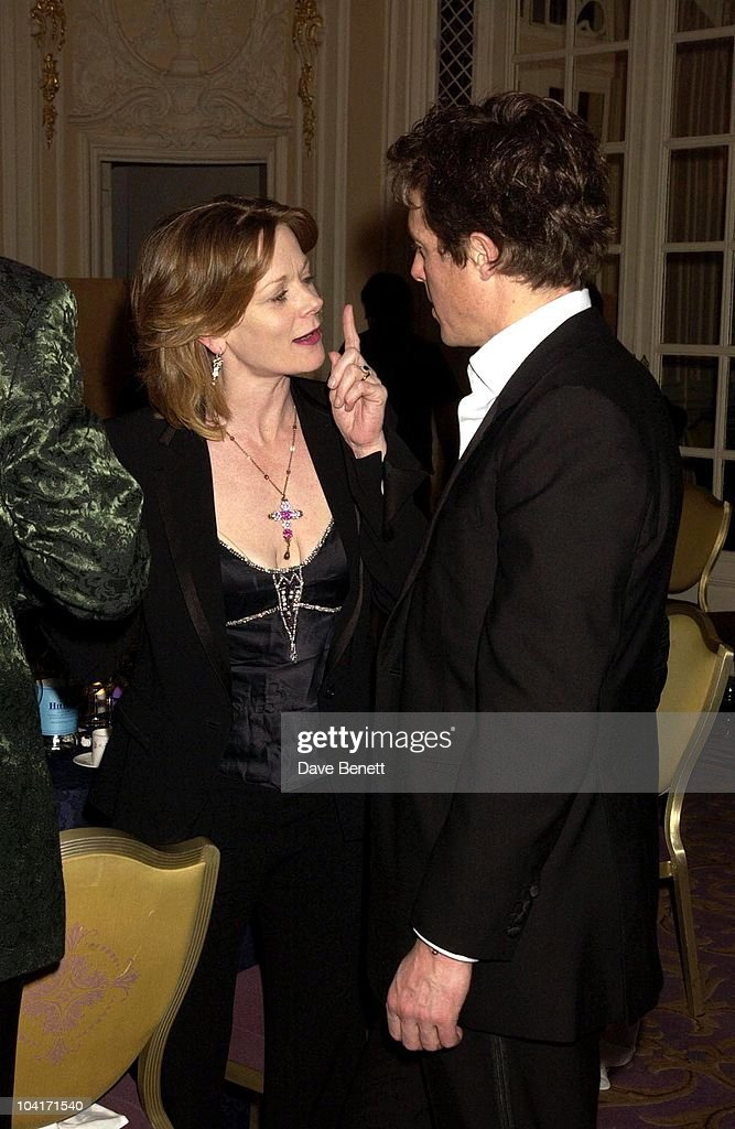 Samantha Bond & Hugh Grant, The Evening Standard Film Awards, At The Savoy Hotel In London