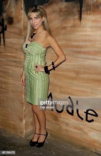 Samantha Brett attends a Nudie Jeans Cocktail Party at the Oxford Art Factory on March 11 2008 in Sydney Australia