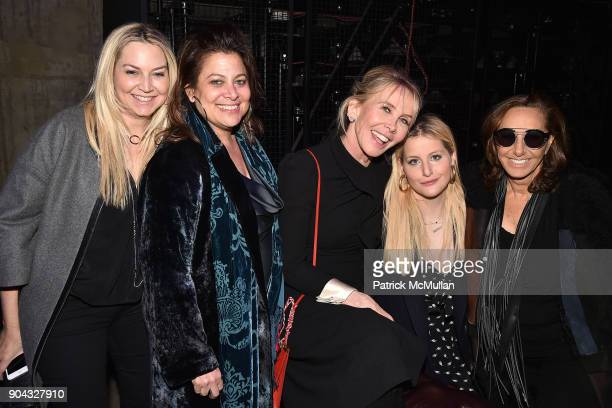 Samantha Brous, Meryl Poster, Trudie Styler, Samantha Perelman and Donna Karan attend The Cinema Society & Bluemercury host the after party for IFC...