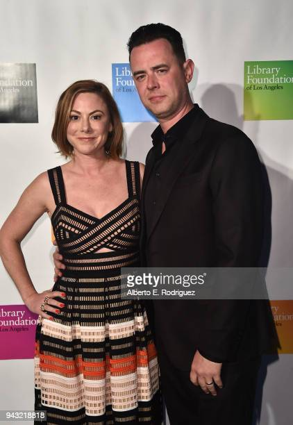 Samantha Bryant and Colin Hanks attend the 10th Annual Young Literati Toast at Hudson Loft on April 7, 2018 in Los Angeles, California.