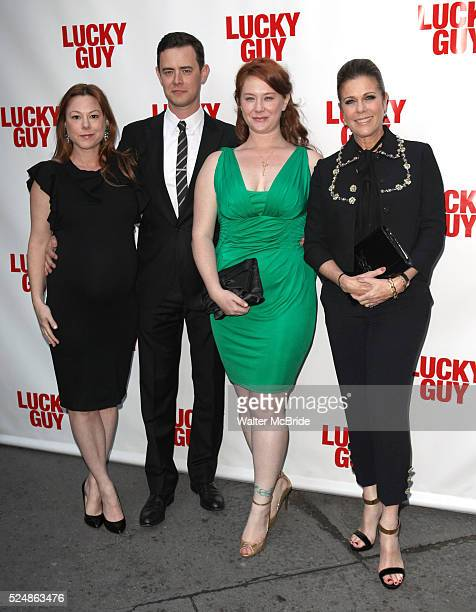 Samantha Bryant Colin Hanks Elizabeth Ann Hanks Rita Wilson attending the Broadway Opening Night Performance of 'Lucky Guy' at the Broadhurst Theatre...