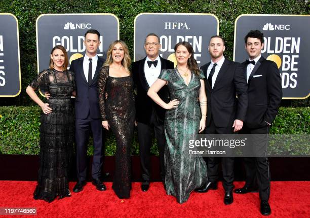 Samantha Bryant Colin Hanks Rita Wilson Tom Hanks Elizabeth Ann Hanks Chet Hanks and Truman Theodore Hanks attend the 77th Annual Golden Globe Awards...