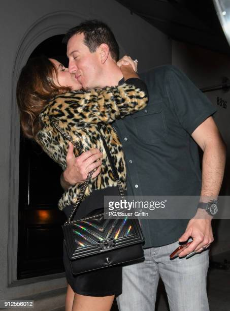 Samantha Busch and Kyle Busch are seen on January 30 2018 in Los Angeles California