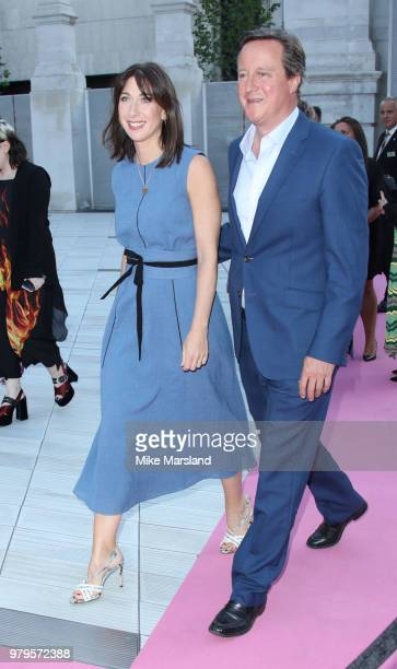 Samantha Cameron and David Cameron attend the VA Summer Party at The VA on June 20 2018 in London England