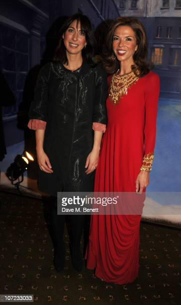 Samantha Cameron and Heather Kerzner attend The Dickensian Ball at Harrods on December 1 2010 in London England