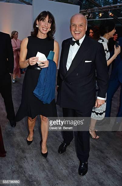 Samantha Cameron and Nicholas Coleridge attend British Vogue's Centenary gala dinner at Kensington Gardens on May 23, 2016 in London, England.