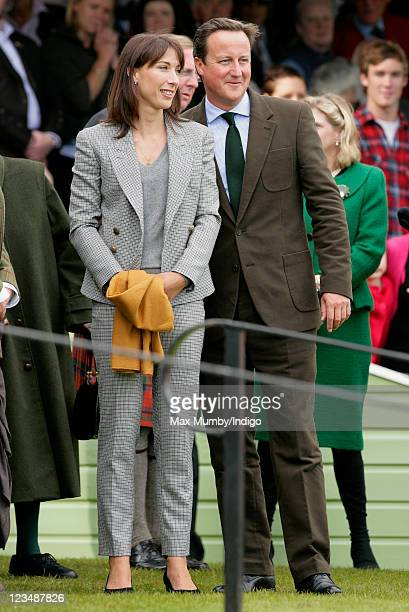 Samantha Cameron and Prime Minister David Cameron attend the annual Braemar Gathering at The Princess Royal and Duke of Fife Memorial Park on...