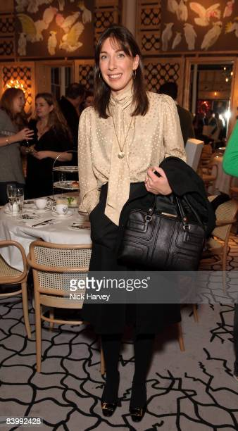 Samantha Cameron attends fashion magazine Love's Christmas Tea And Treasure Hunt at Royal Academy of Arts on December 10, 2008 in London, England.