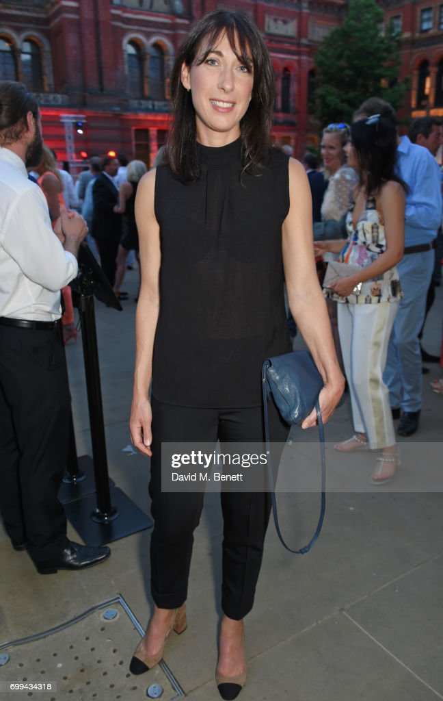 Samantha Cameron attends the 2017 annual V&A Summer Party in partnership with Harrods at the Victoria and Albert Museum on June 21, 2017 in London, England.