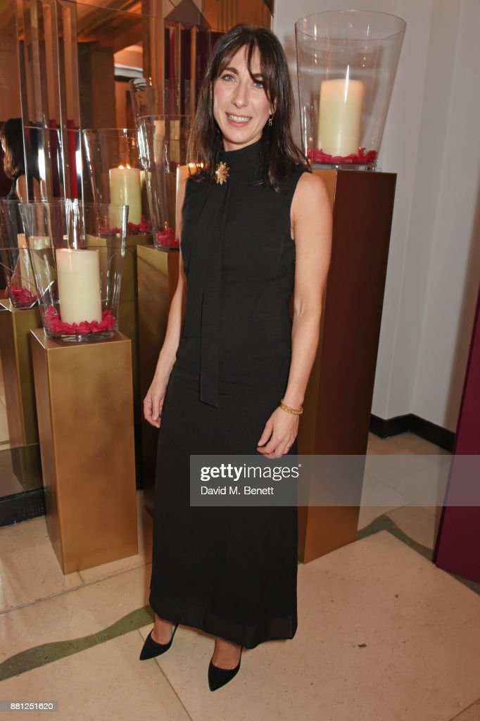 Samantha Cameron attends the Lady Garden Gala in aid of Silent No More Gynaecological Cancer Fund and Cancer Research UK at Claridge's Hotel on November 28, 2017 in London, England.