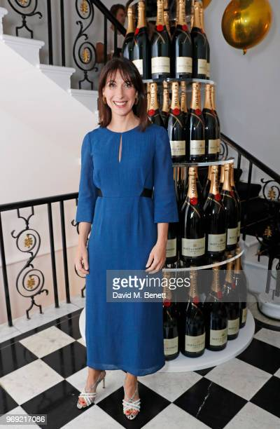 Samantha Cameron attends the Moet Summer House VIP launch night on June 7 2018 in London England