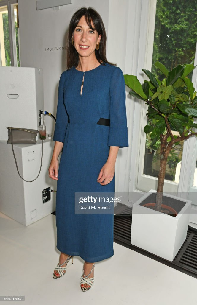 Samantha Cameron attends the Moet Summer House VIP launch night on June 7, 2018 in London, England.