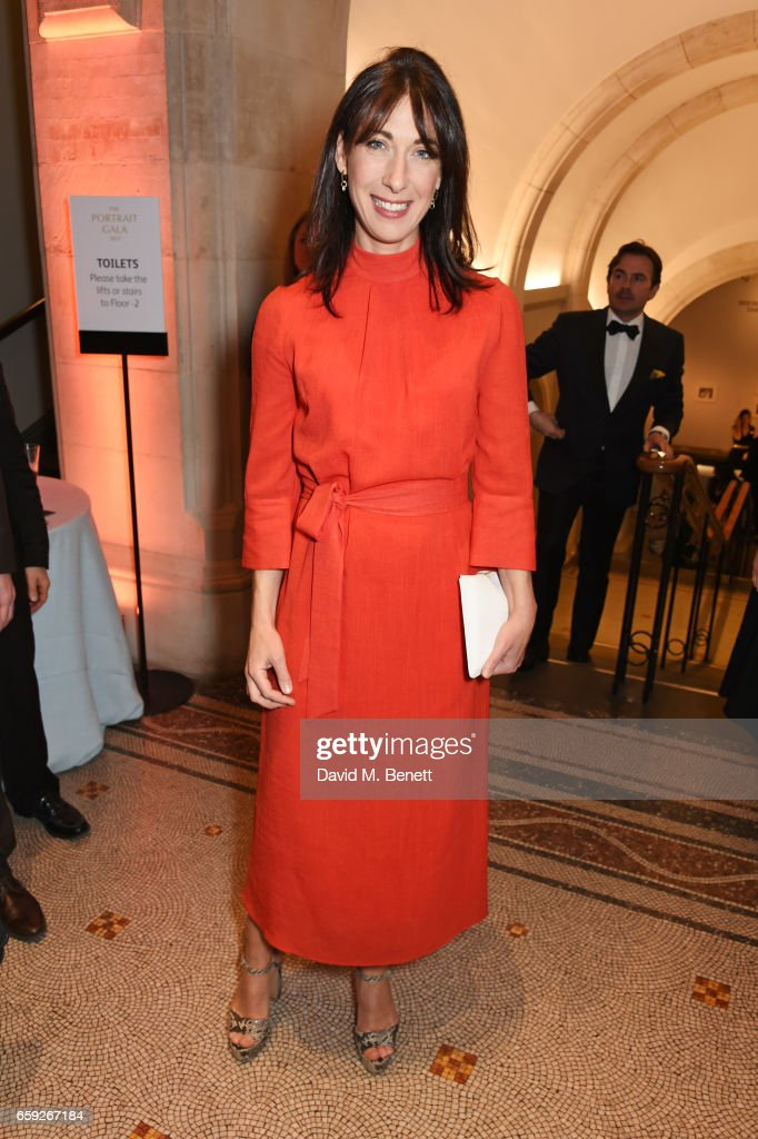 Samantha Cameron attends the Portrait Gala 2017 sponsored by William & Son at the National Portrait Gallery on March 28, 2017 in London, England.