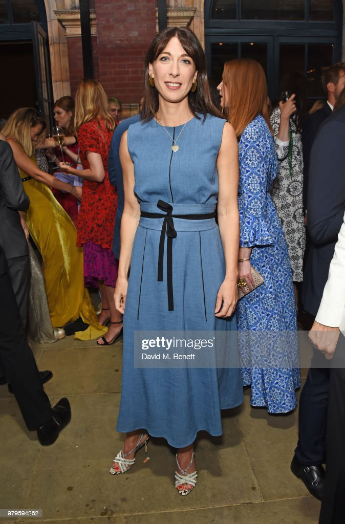 Samantha Cameron attends the Summer Party at the V&A in partnership with Harrods at the Victoria and Albert Museum on June 20, 2018 in London, England.