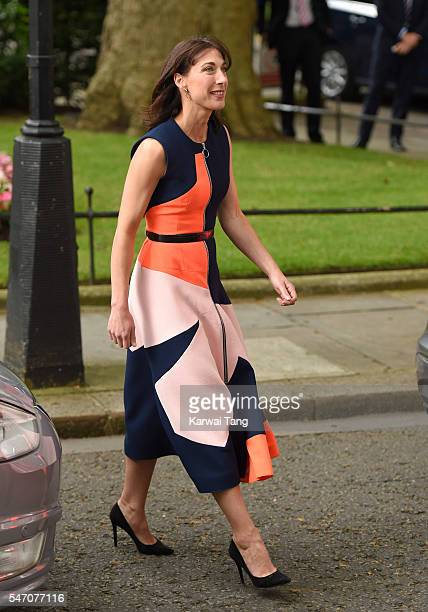 Samantha Cameron leaves 10 Downing Street on July 13 2016 in London England David Cameron leaves Downing Street today having been Prime Minister of...
