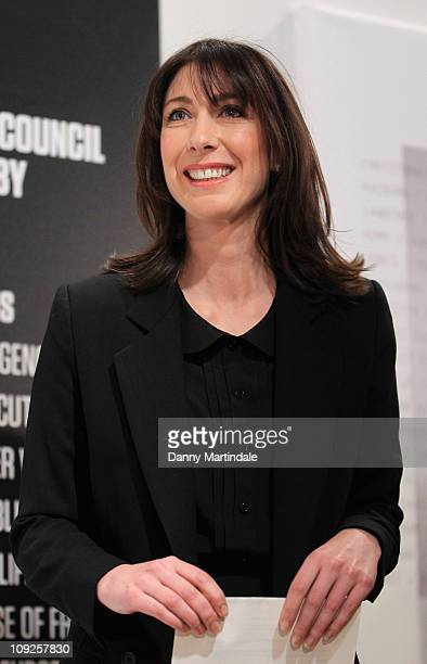 Samantha Cameron opens the London Fashion Week Autumn/Winter 2011 at Somerset House on February 18 2011 in London England