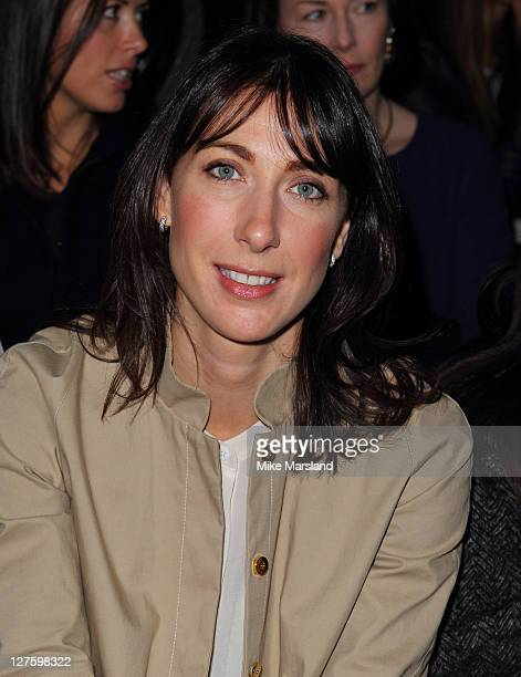 Samantha Cameron seen at the front row at the David Koma show at London Fashion Week Autumn/Winter 2011 on February 21 2011 in London England