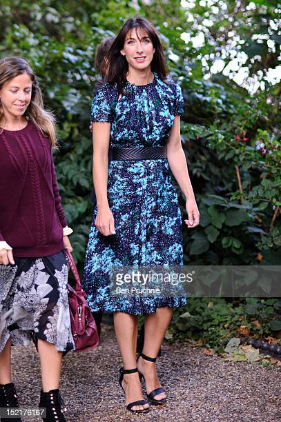 Samantha Cameron sighted arriving at the Erdem fashion show during London Fashion Week S/S 2013 on September 17 2012 in London England