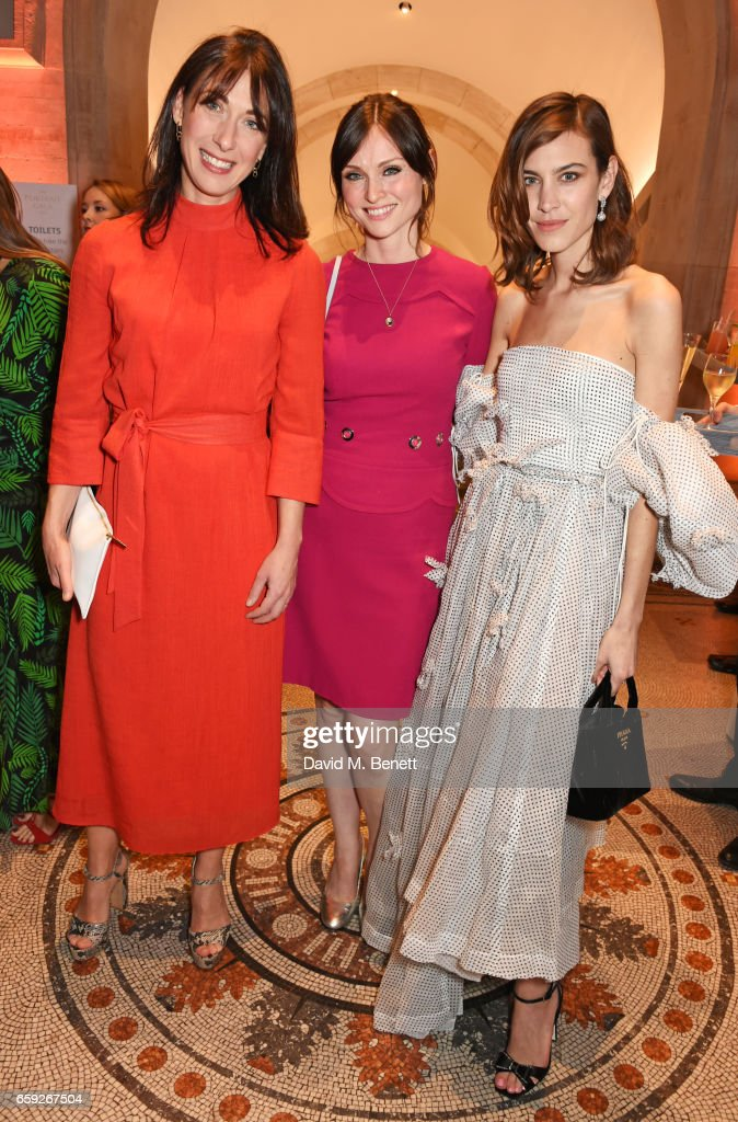 Samantha Cameron, Sophie Ellis-Bextor and Alexa Chung attend the Portrait Gala 2017 sponsored by William & Son at the National Portrait Gallery on March 28, 2017 in London, England.