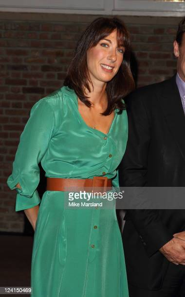 Samantha Cameron takes part in Asprey's Vogue Fashion's Night Out at Asprey London on September 8 2011 in London England