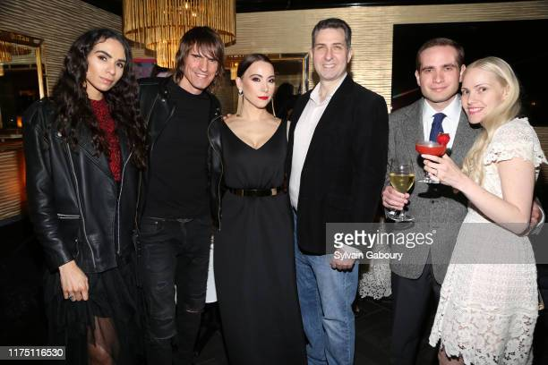 Samantha Cato Udo Spreitzenbarth Janel Tanna Mark Herschberg Matt Spaiser and Janna Spaiser attend Janel Tanna's Cover Party By Resident Magazine at...