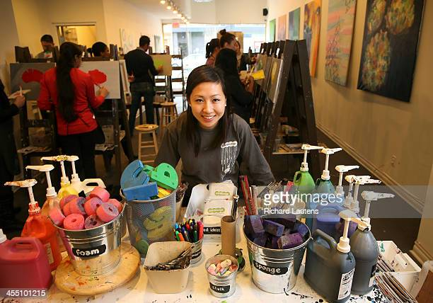 Samantha Chan left a job at Citigroup to pursue her dream and started Paintlounge a cafe/space where anyone can paint She is in her business on...