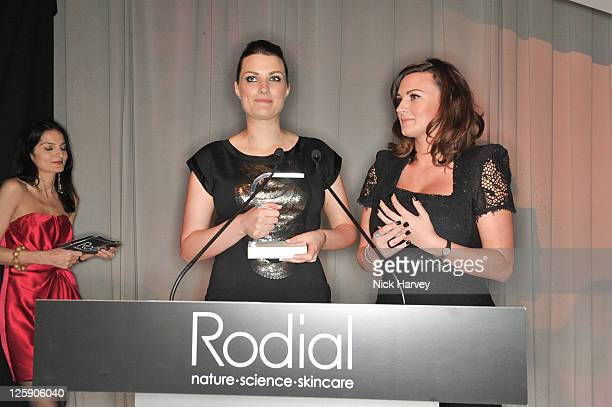 Samantha Chapman and Nicola Chapman of the Pixiwoo blogsite attend the Rodial BEAUTIFUL Awards at Sanderson Hotel on February 1 2011 in London England