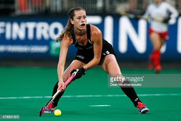 Samantha Charlton of New Zealand in action during the Fintro Hockey World League SemiFinal match between South Korea and New Zealand held at KHC...