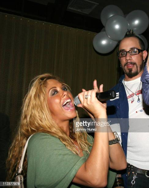 Samantha Cole and A J during AJ McLean of Backstreet Boys Birthday Party January 9 2007 at Marquee in New York City New York United States