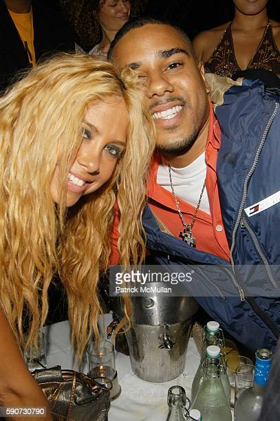 Samantha Cole and BJ Coleman attend DJ Cassidy Birthday Party at Butter NYC USA on July 6 2005