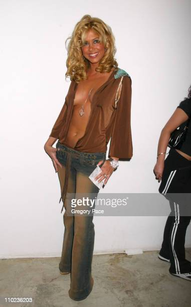 Samantha Cole during Olympus Fashion Week Fall 2005 Baby Phat Front Row and Backstage at Skylight Studios in New York City New York United States